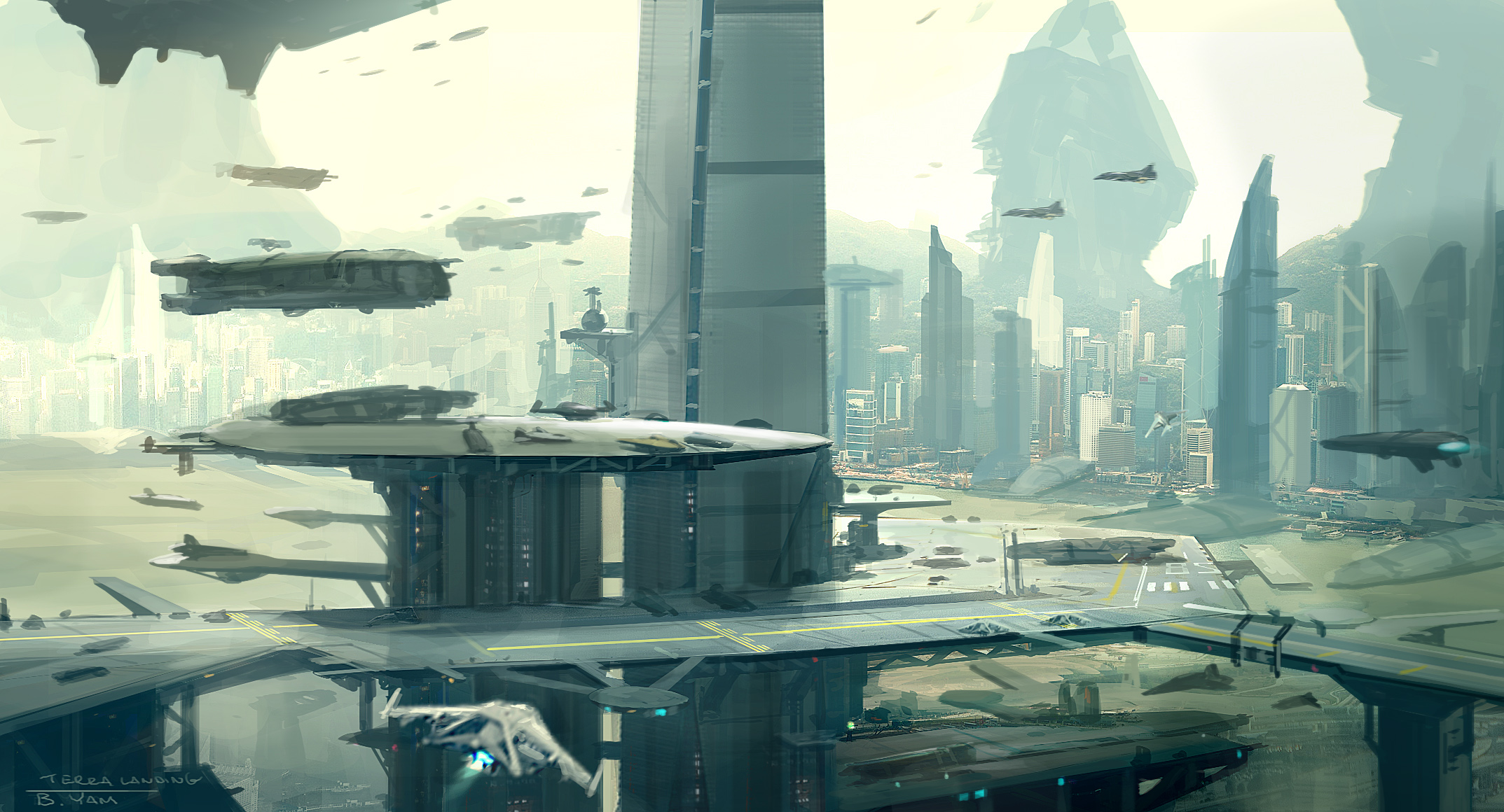 Terra spaceport sketch d color revise2